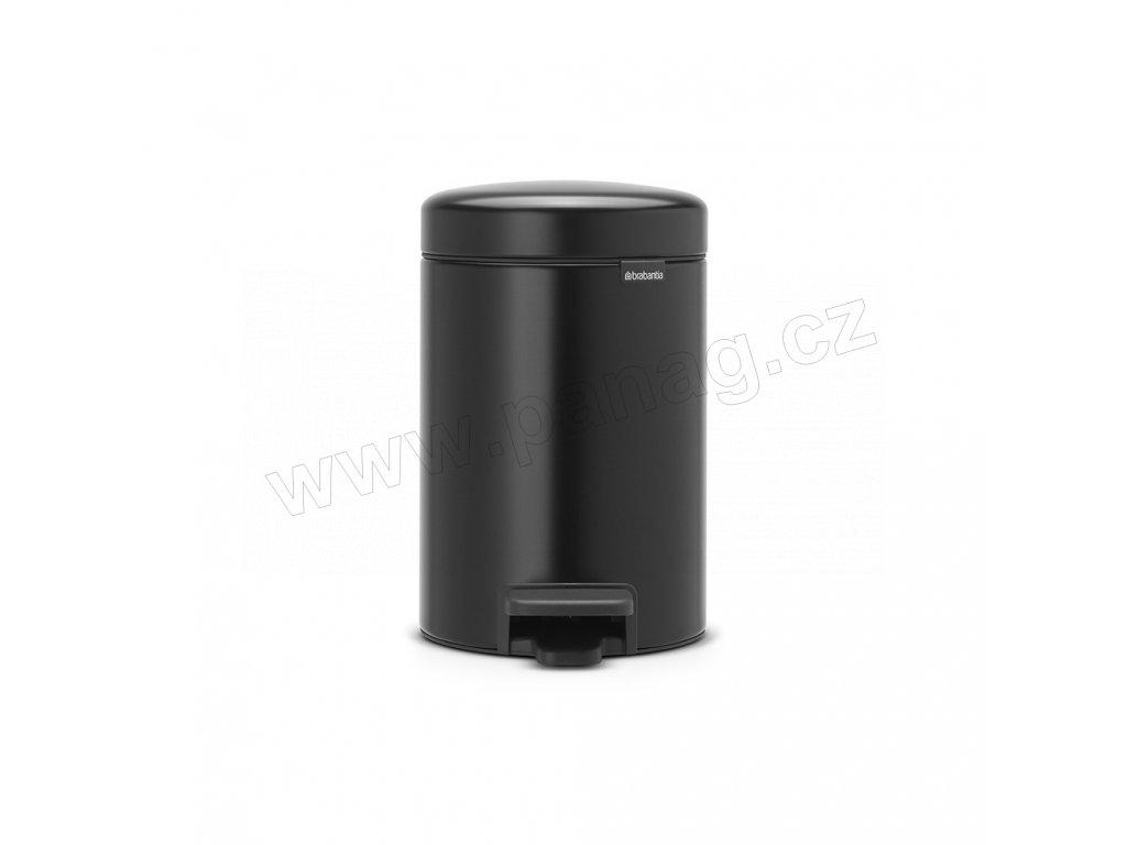 Pedálový koš newIcon - 3 L, Matná černá