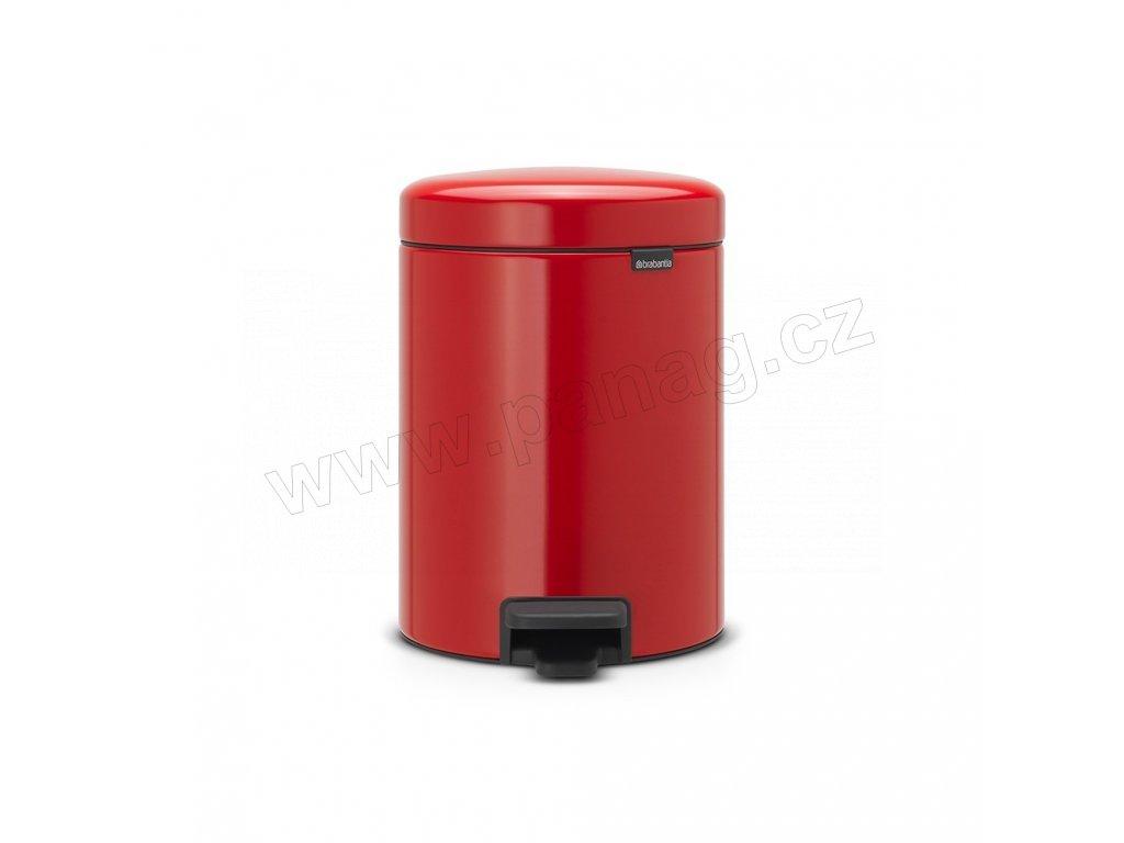 Pedálový koš newIcon - 5 L, Zářivě červená