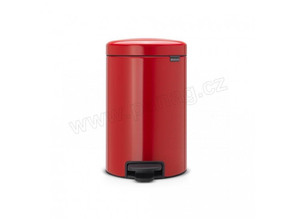Pedálový koš newIcon - 12 L, Zářivě červená