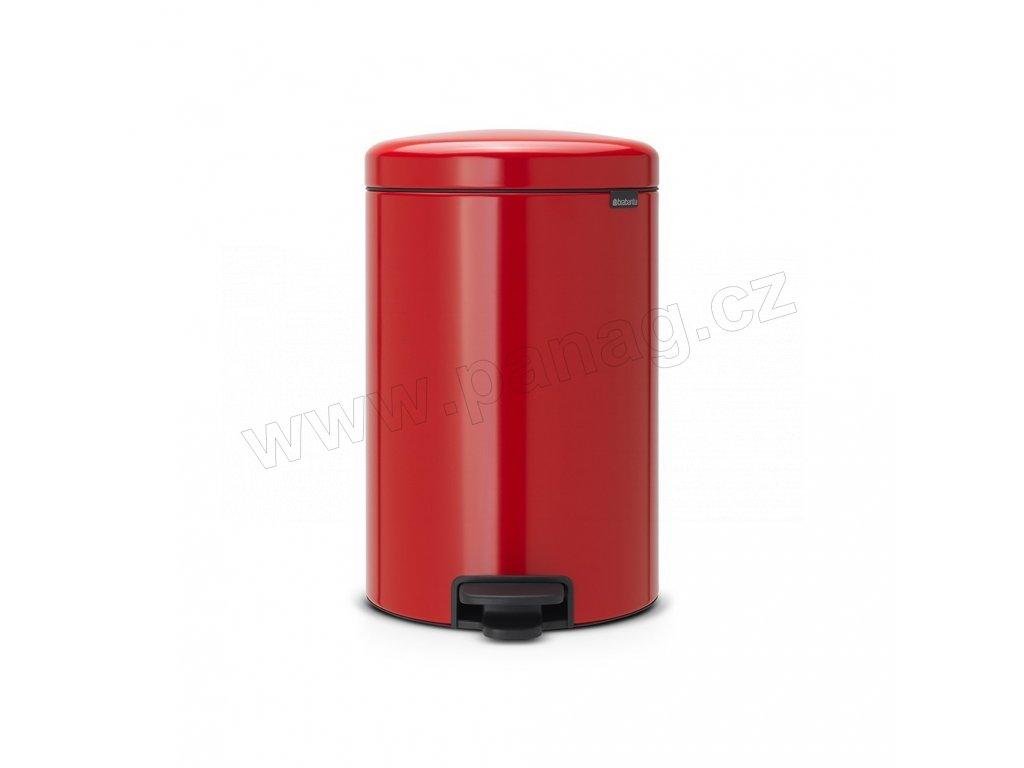 Pedálový koš newIcon - 20 L, Zářivě červená