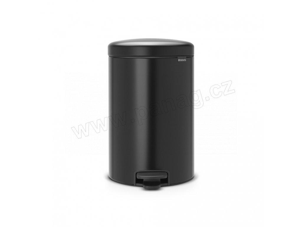Pedálový koš newIcon - 20 L, Matná černá