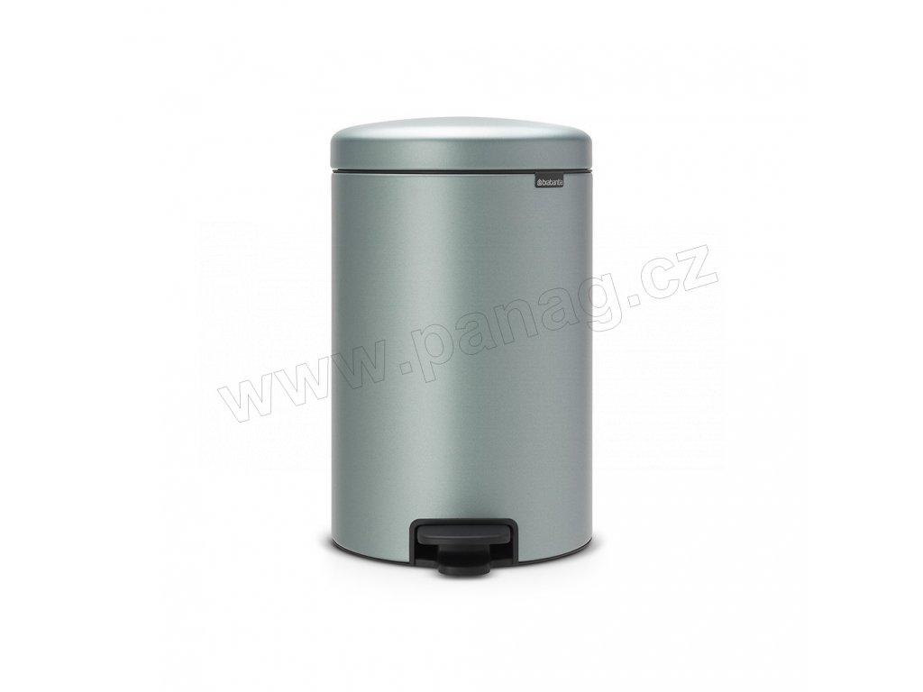 Pedálový koš newIcon - 20 L, Metalická mátová