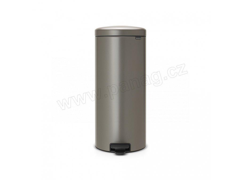 Pedálový koš newIcon - 30 L, Platinová