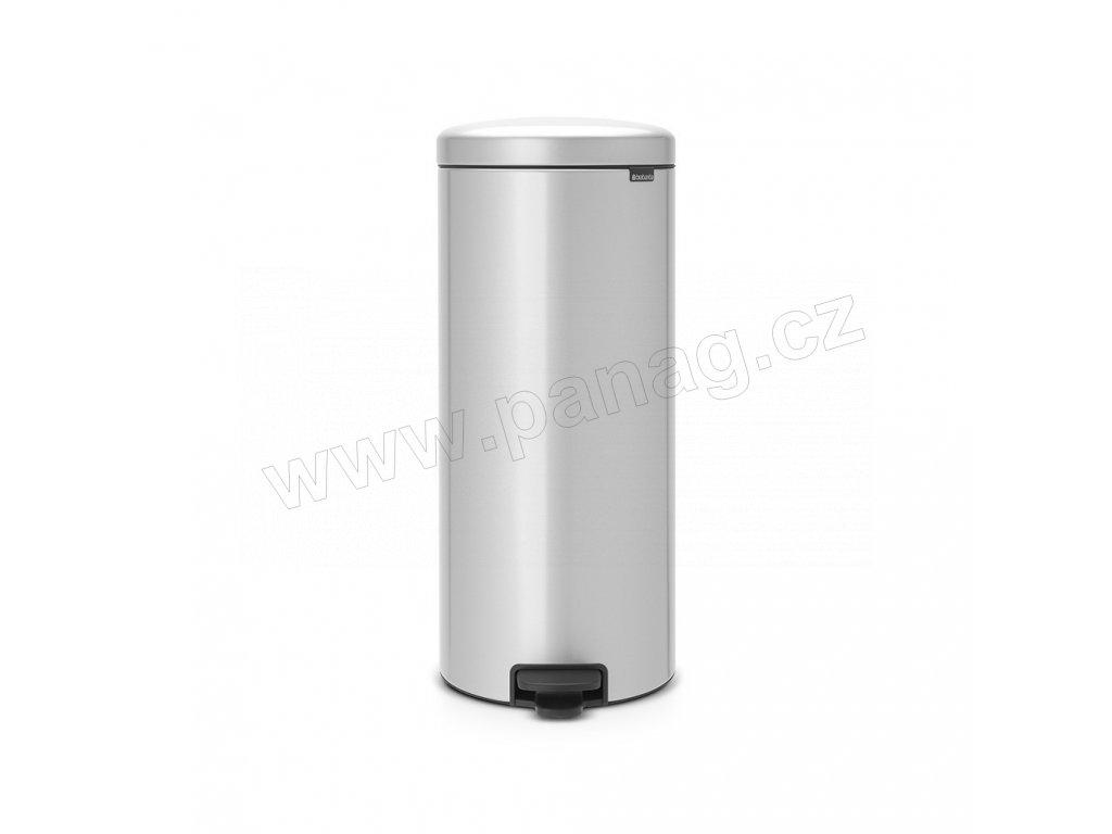Pedálový koš newIcon - 30 L, Metalická šedá