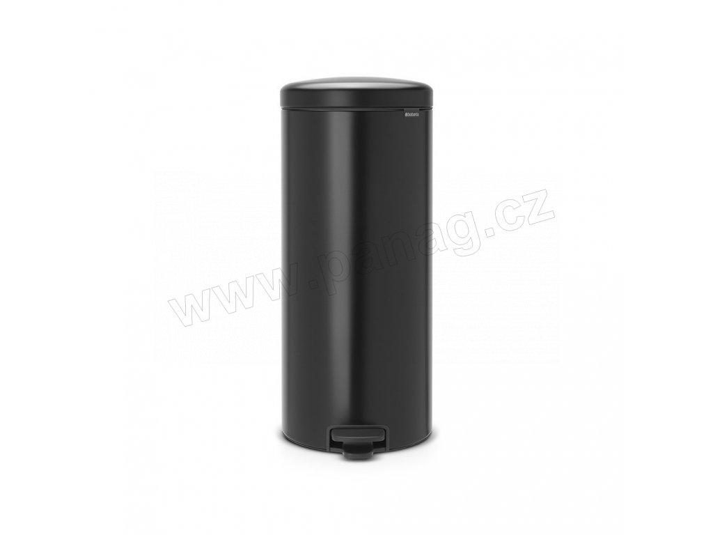 Pedálový koš newIcon - 30 L, Matná černá