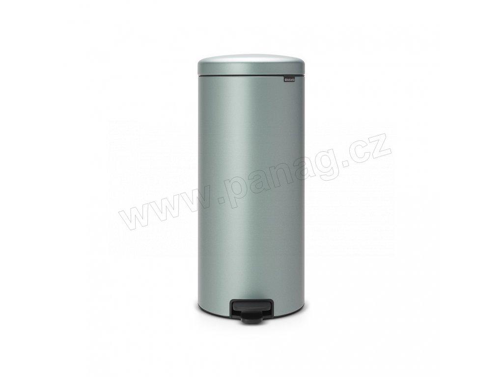 Pedálový koš newIcon - 30 L, Metalická mátová