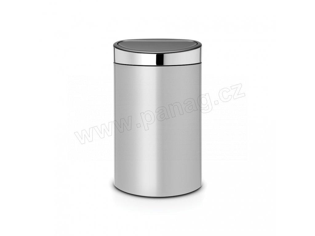 Koš Touch Bin  - 40 L , Metalická šedá / Lesk víko