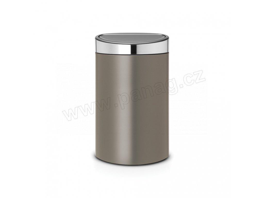 Koš Touch Bin - 40 L , Platinová / Matná ocel Lid