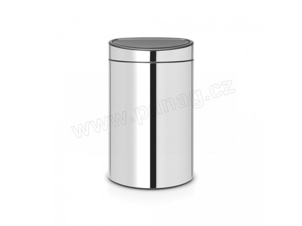 Touch Bin Recycle koš na tříděný odpad- 10+23 L , Lesklá ocel