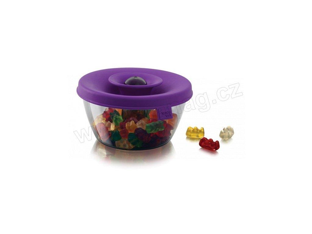 Vakuová dóza na sladkosti / oříšky PopSome fialová