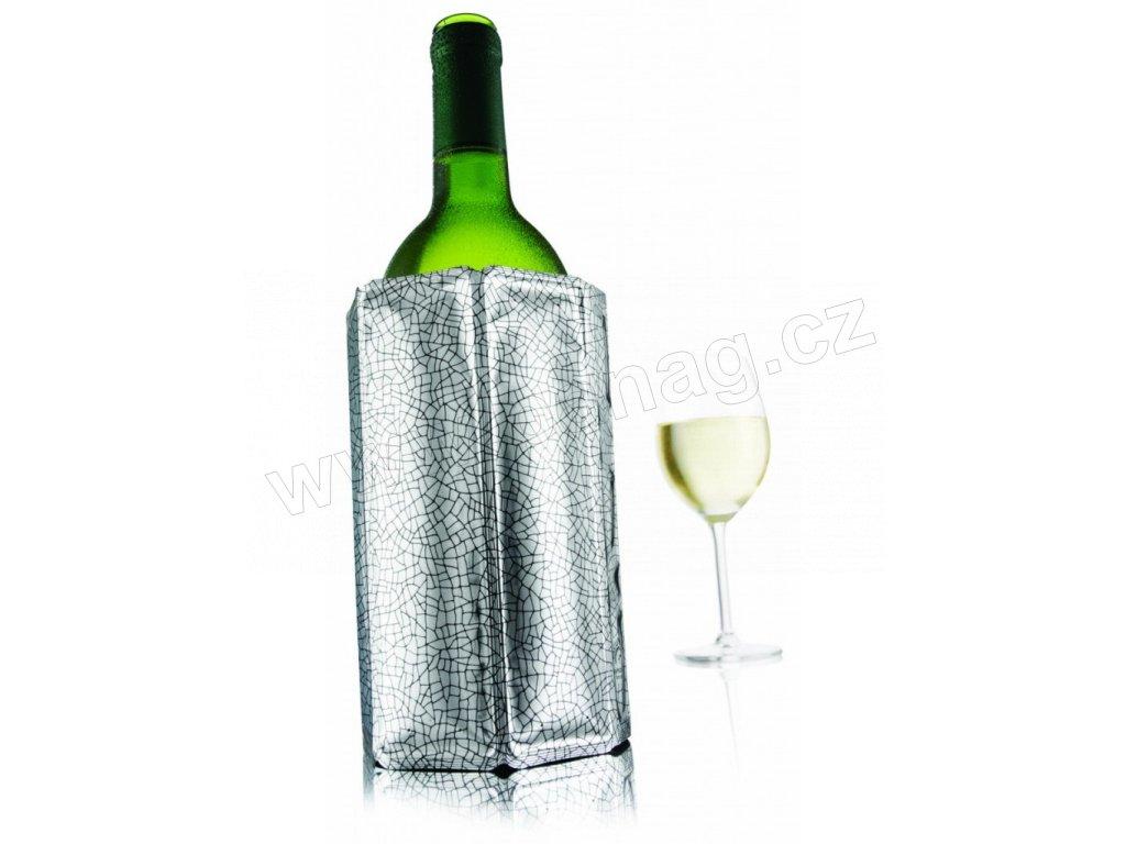 Chladící návlek na víno stříbrný