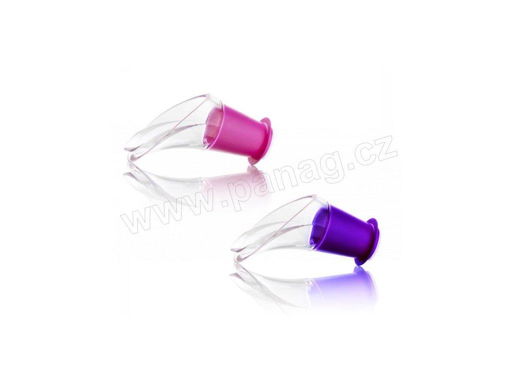 Nálevky na víno Crystal 2 ks