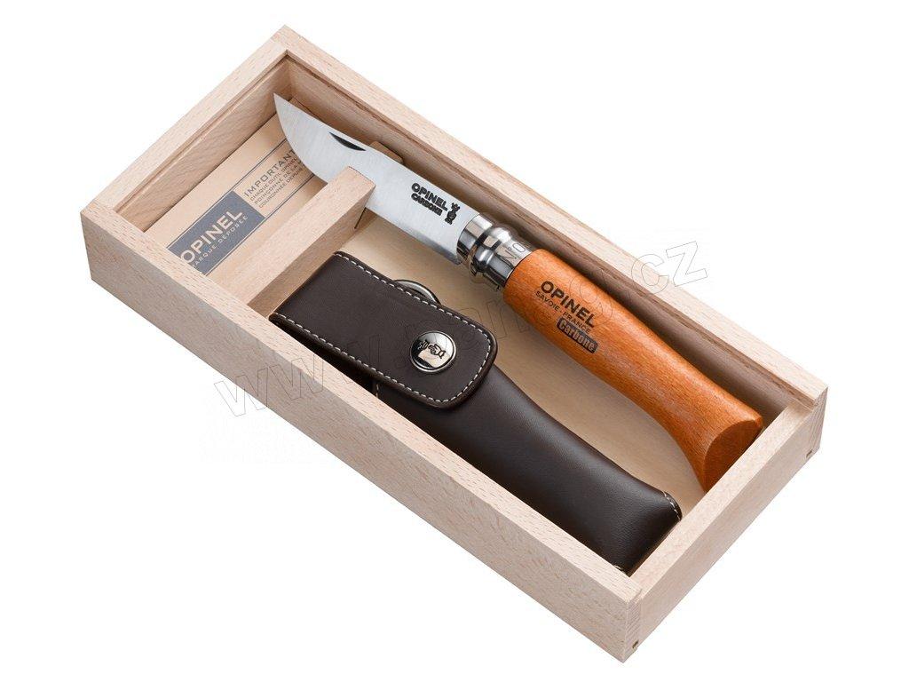 Zavírací nůž VRN N°08 Carbon + pouzdro, dřevěná krabička8,5 cm