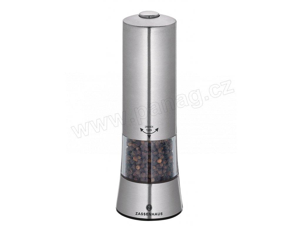 GERA - Elektrický mlýnek pepř nerezový 18 cm - Zassenhaus - 033045