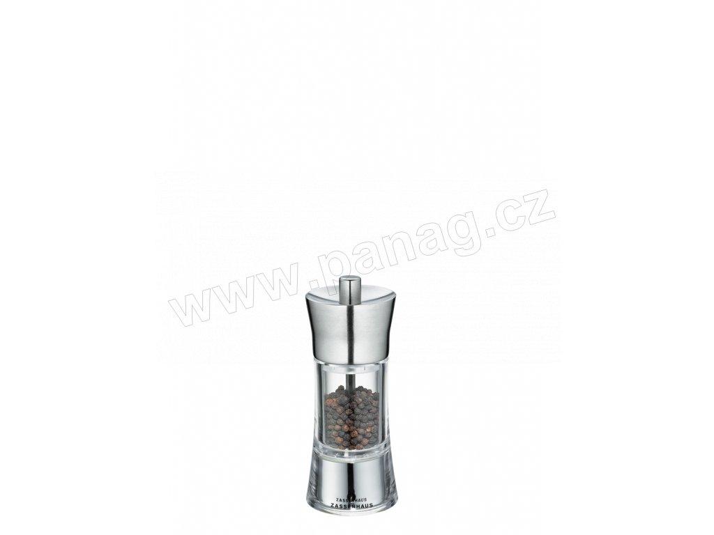 AACHEN - Mlýnek na pepř nerez/akryl 14 cm  - Zassenhaus - 035285