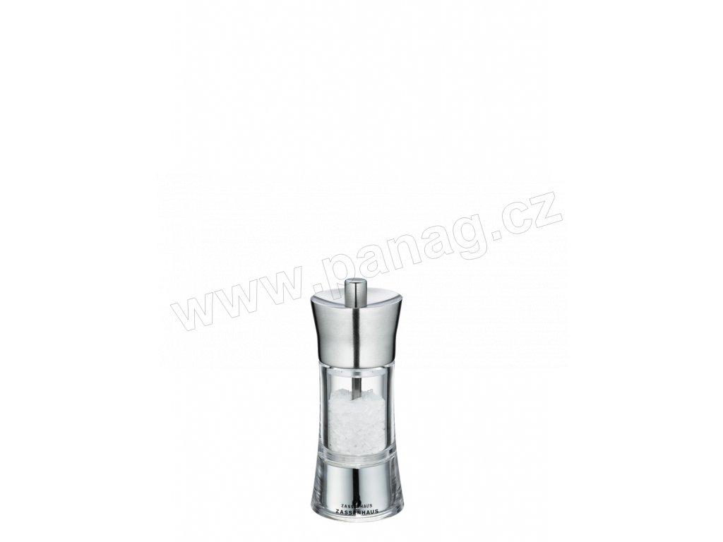 AACHEN - Mlýnek na sůl nerez/akryl 14 cm  - Zassenhaus - 035292