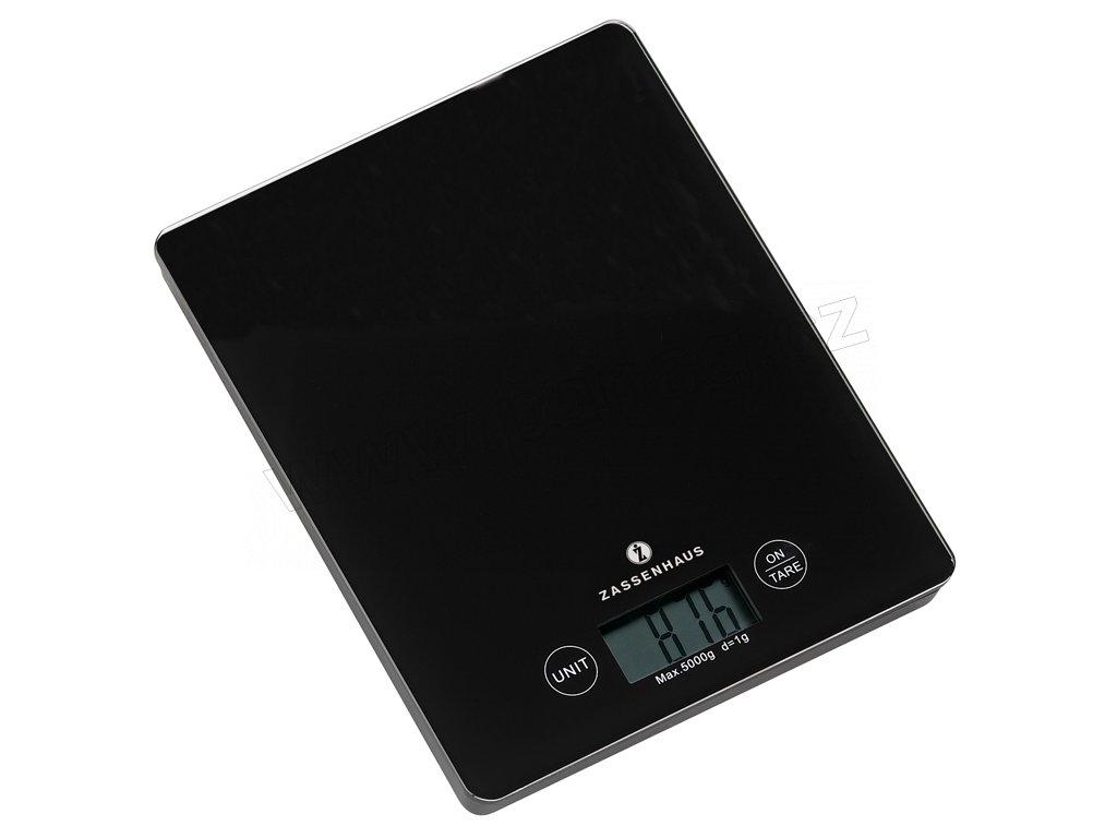 Digitální kuchyňská váha černá BALANCE do 5 kg - Zassenhaus - 073195