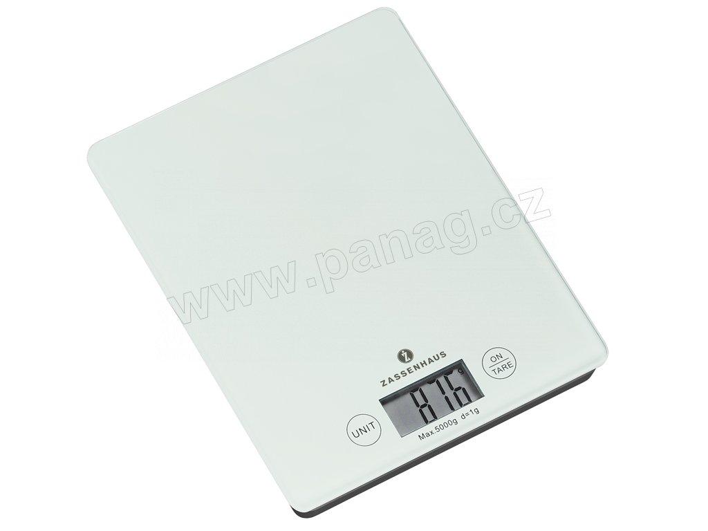 Digitální kuchyňská váha bílá BALANCE do 5 kg - Zassenhaus - 073201