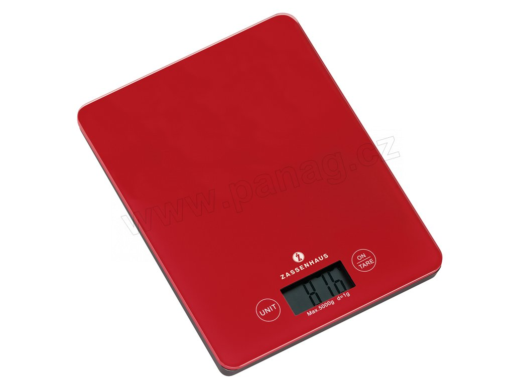 Digitální kuchyňská váha červená BALANCE do 5 kg - Zassenhaus - 073218