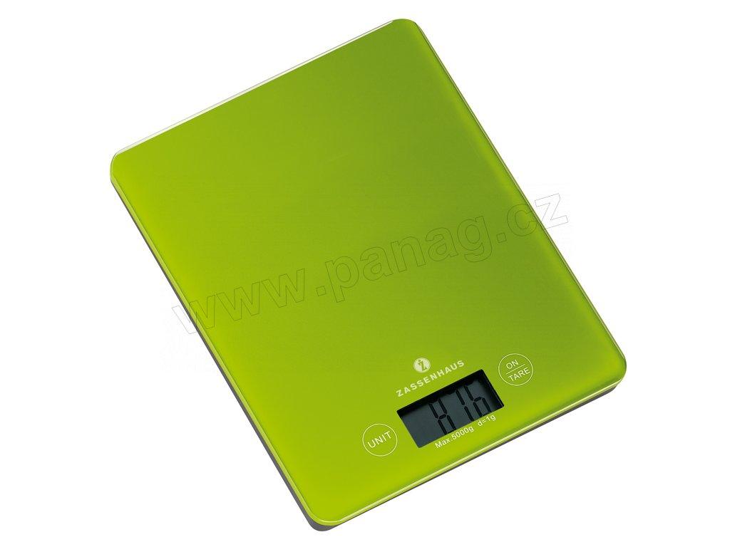 Digitální kuchyňská váha zelená BALANCE do 5 kg - Zassenhaus - 073225