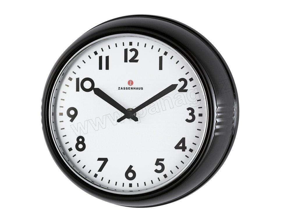 Retro nástěnné hodiny černé - Zassenhaus - 072716
