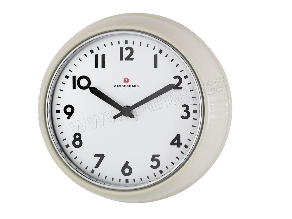 Retro nástěnné hodiny smetanové - Zassenhaus - 072730