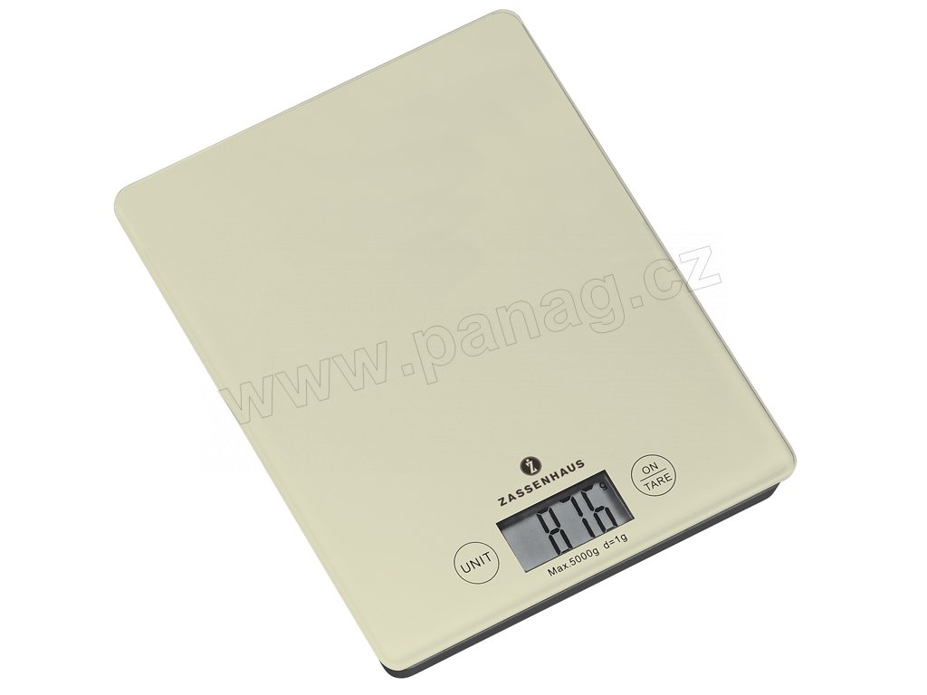 Digitální kuchyňská váha krémová BALANCE  5 kg - Zassenhaus - 073256