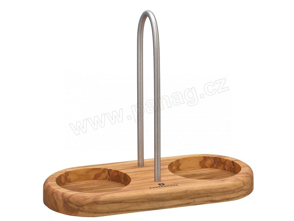 Podložka s rukojetí pod mlýnky na koření olivové dřevo - Zassenhaus - 036060