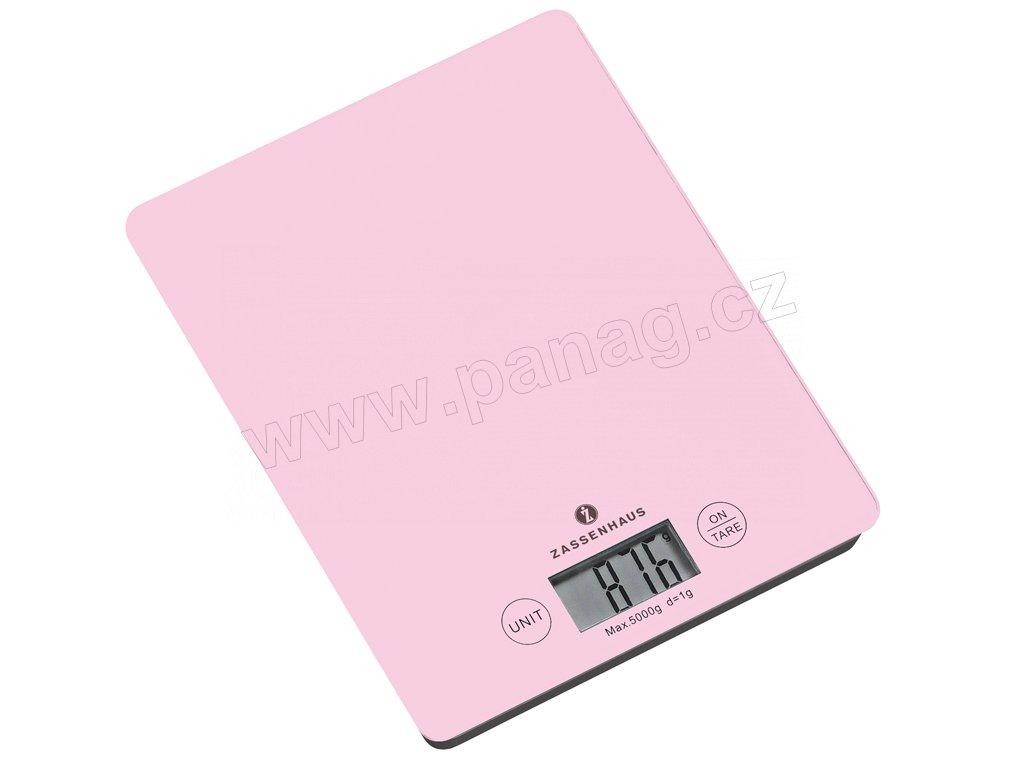 Digitální kuchyňská váha růžová BALANCE do 5 kg - Zassenhaus - 073393