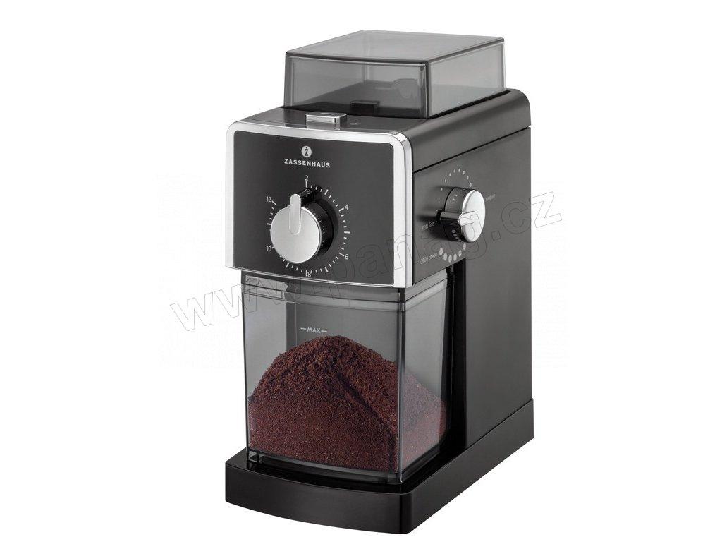 KINGSTON - Elektrický mlýnek na kávu černý - Zassenhaus - 043006