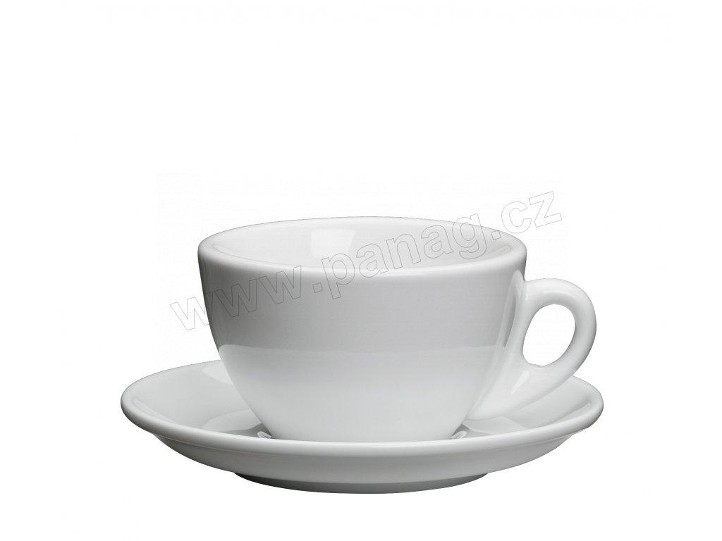 Šálek s podšálkem ROMA bílý 100 ml