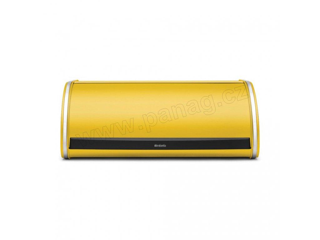 Chlebník 17,5x44,5x27 cm - Kopretinově žlutá - Roll Top