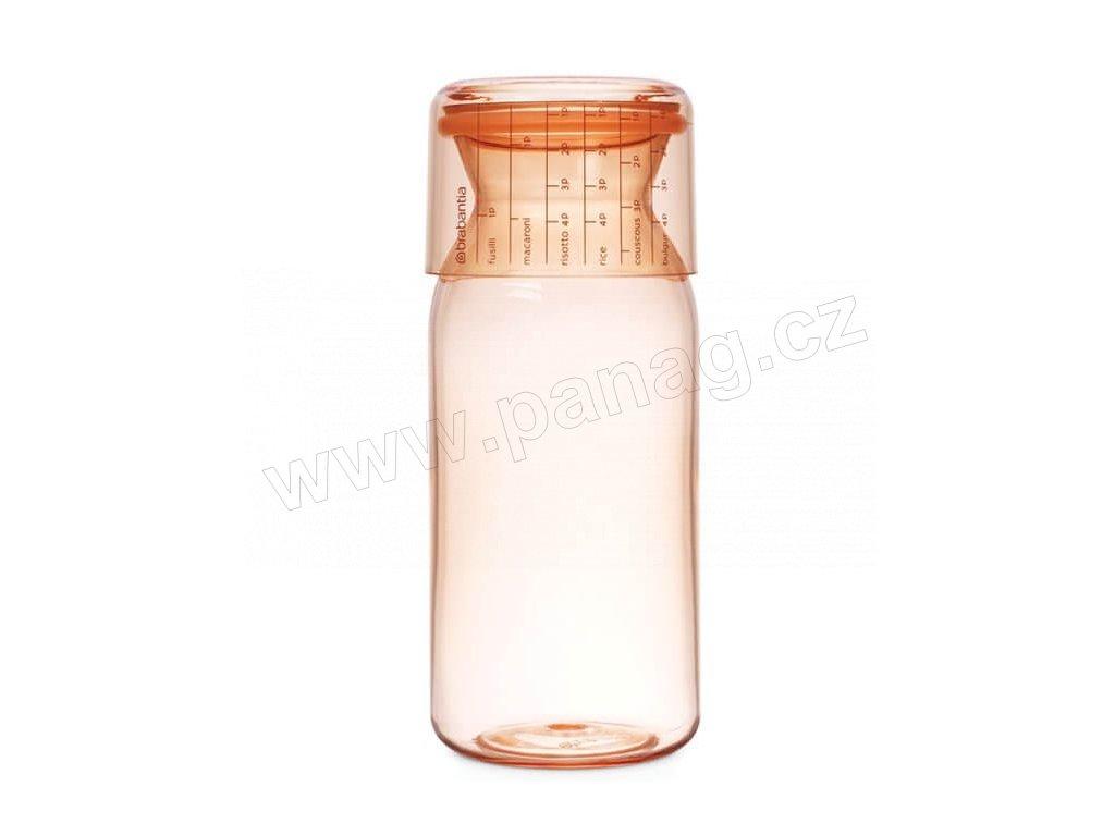 Dóza s odměrkou ve víku 1,3 L - růžový jíl