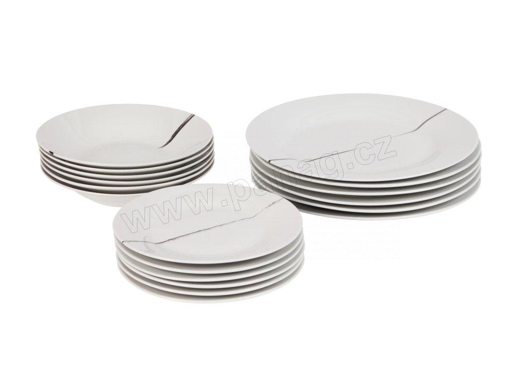 Jídelní souprava 18 ks z kolekce porcelánu by inspire.