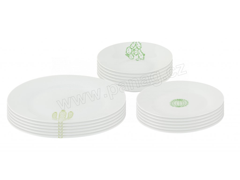 Jídelní souprava 18 ks z kolekce porcelánu CACTUS od by inspire.