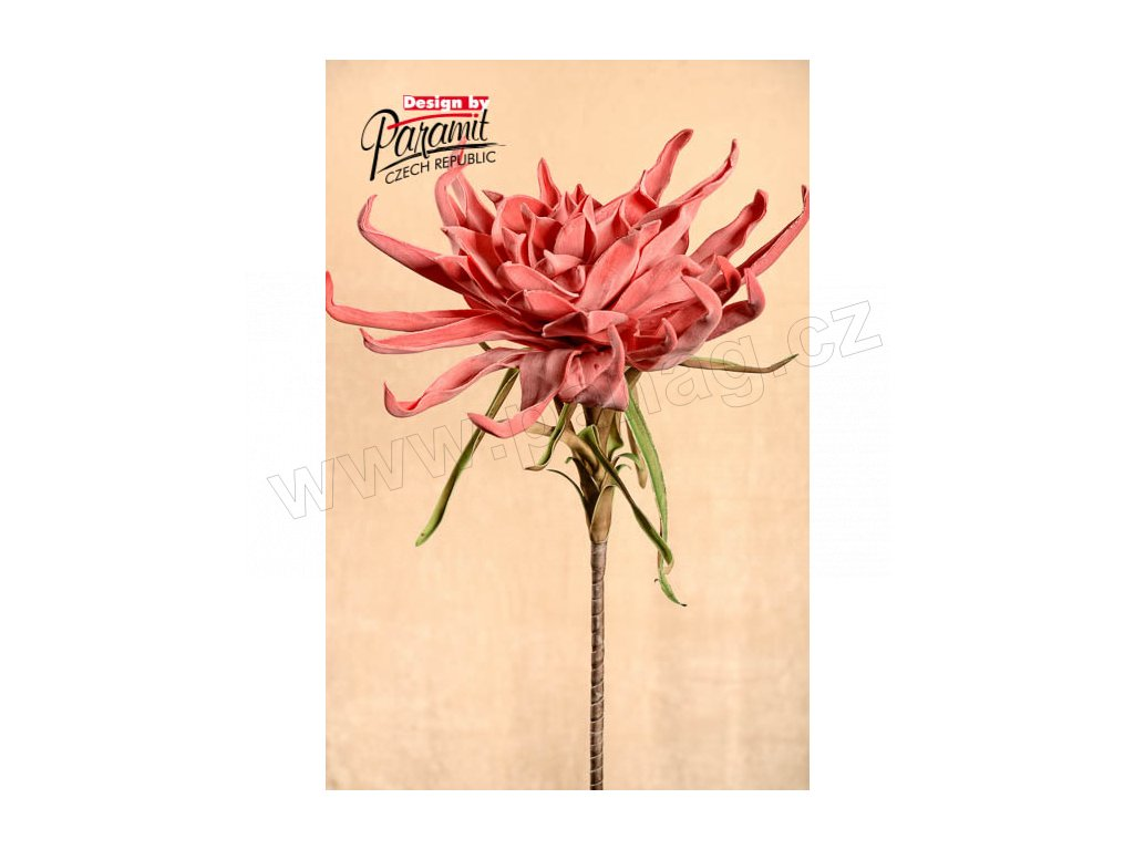 Dekorativní květina růžová - Paramit - 3-28PI
