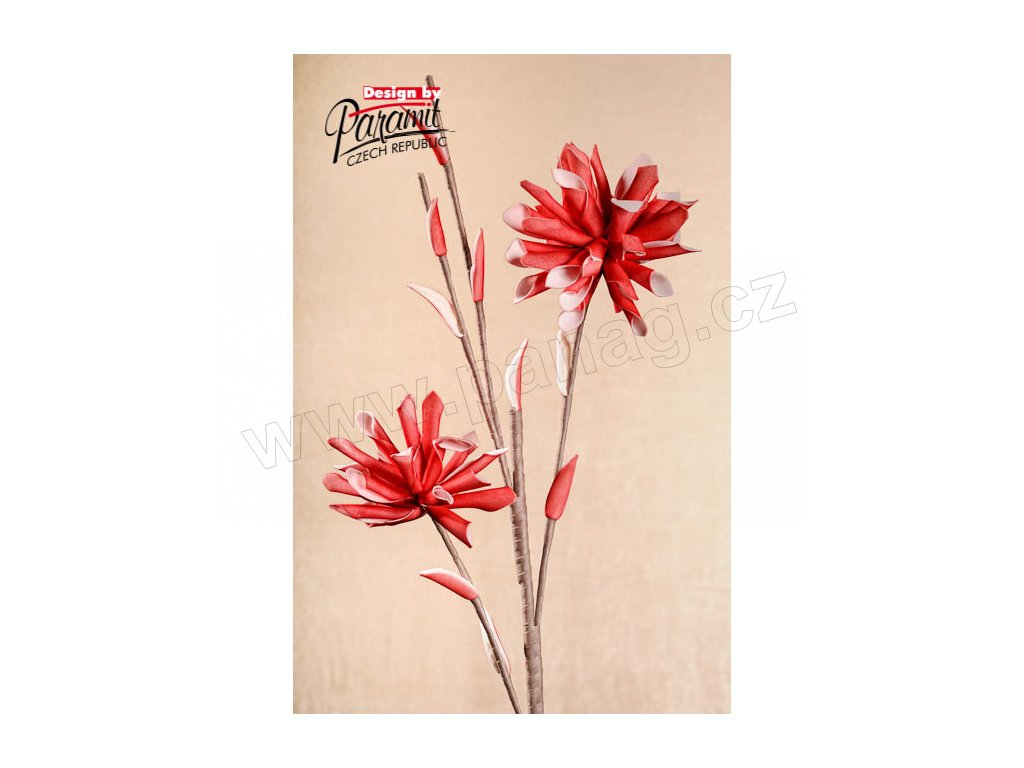 Dekorativní květina červená - Paramit - 3-52R