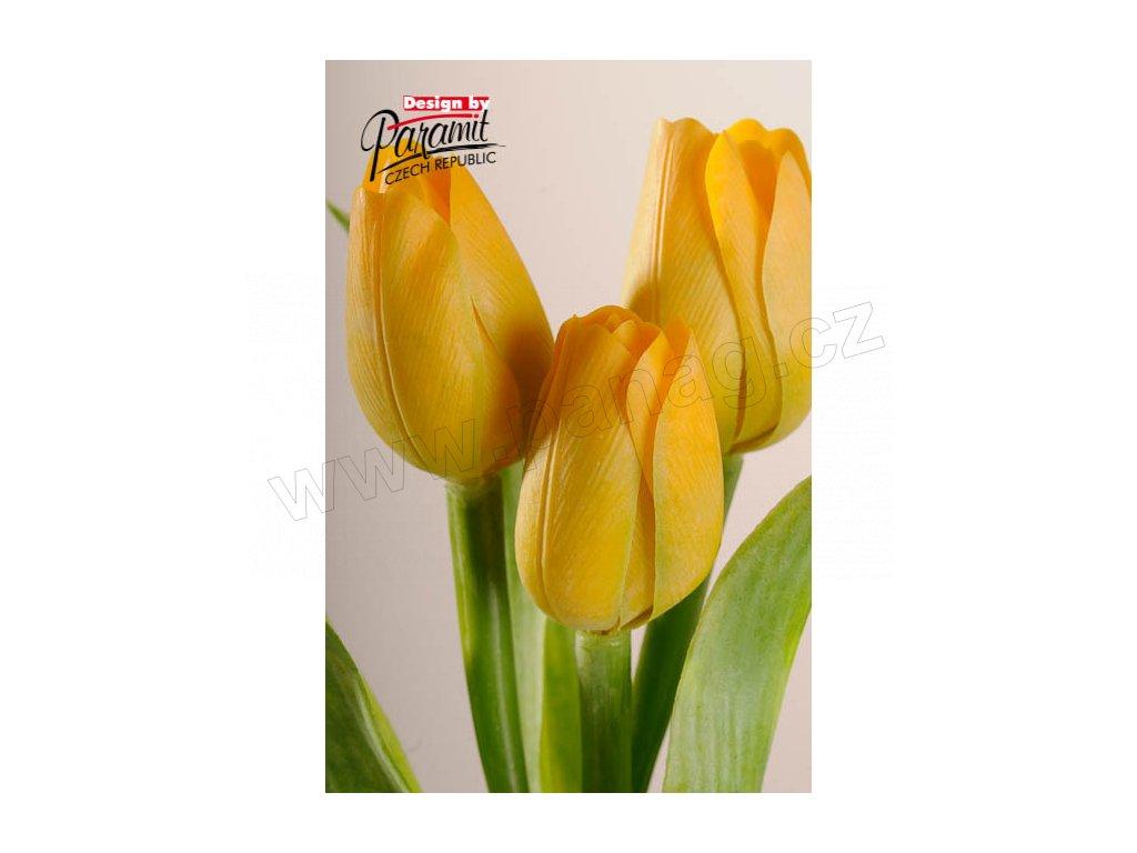 Dekorativní květina francouzský tulipán žlutá - Paramit - 107Y