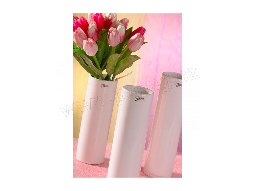 12011 23W Polly váza bílá 23 cm