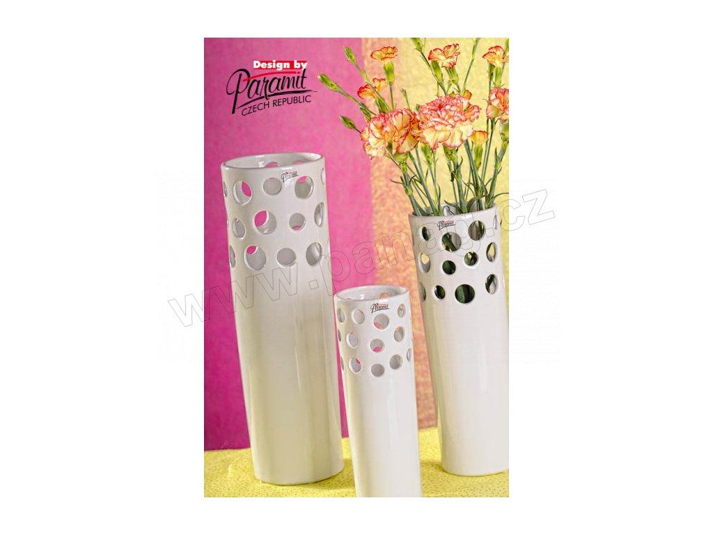 Váza bílá Perla Paramit 12049 30W