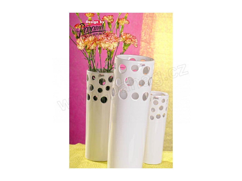 Perla Bílá váza Paramit 12049 37W