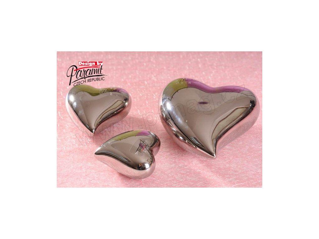 11055 12S Srdíčko stříbrné 12 cm Paramit