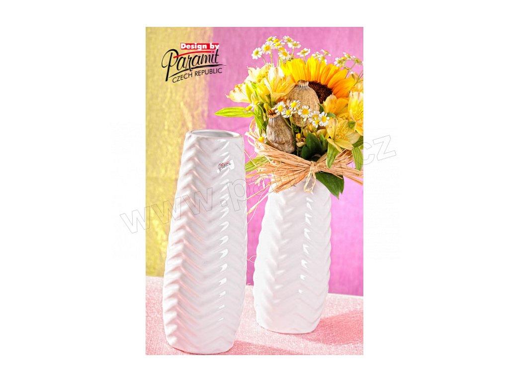12073 30 W Bílá váza Adelin 30 cm Paramit