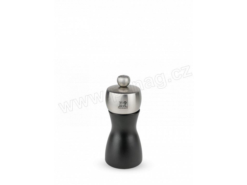 21283 PEUGEOT FIDJI mlýnek na pepř 12 cm černý nerez matný