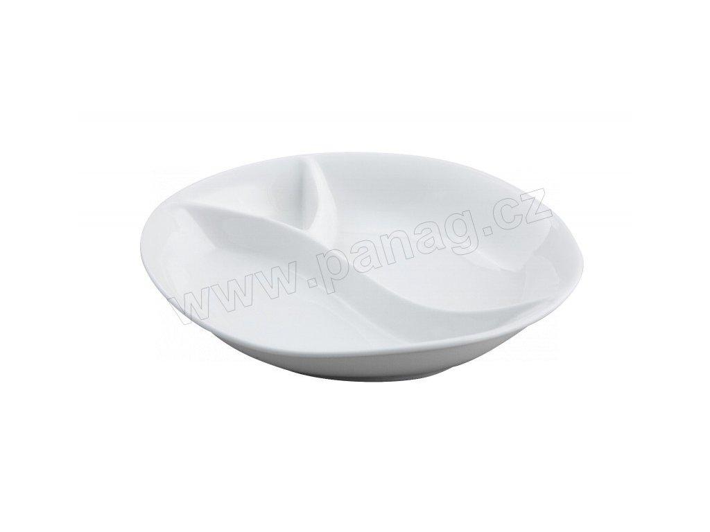 Porcelánová party miska 18 x15,7 x3,2 cm - PURE - by inspire