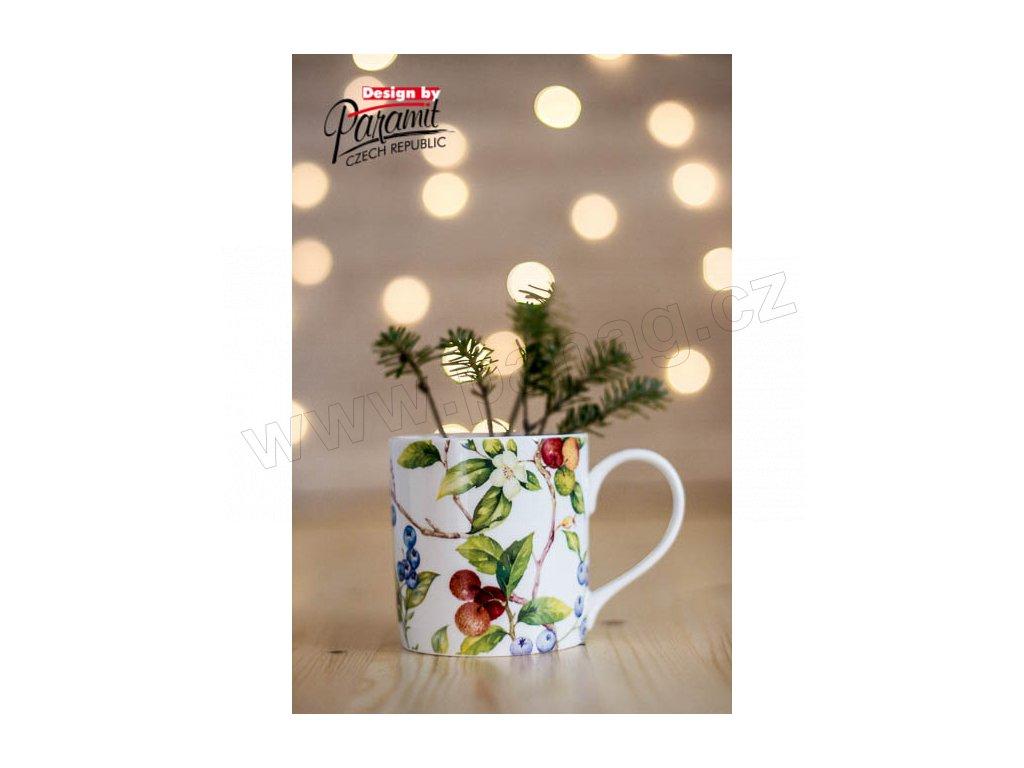 H81 Lamis hrnek na čaj 350 ml s třešněmi a ostružinami s Paramit