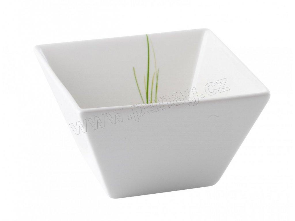 Porcelánová čtvercová miska 11 cm GRASS - by inspire