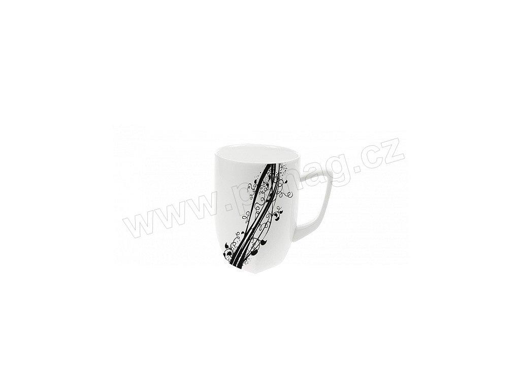 Porcelánový hrnek Quadro 280 ml BLACK - by inspire 7786-00-02