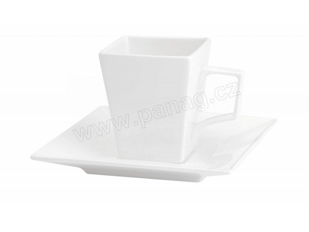 Šálek s podšálkem Quadro 160 ml bílý - by inspire