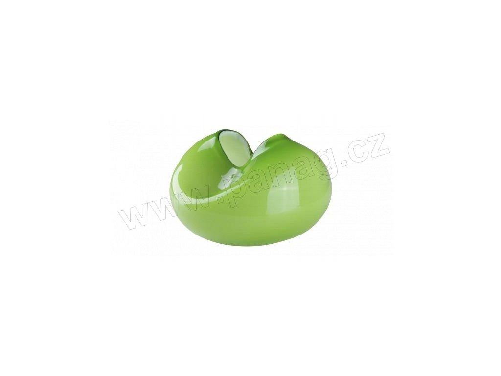 Skleněná designová váza zelená 19 cm - by inspire